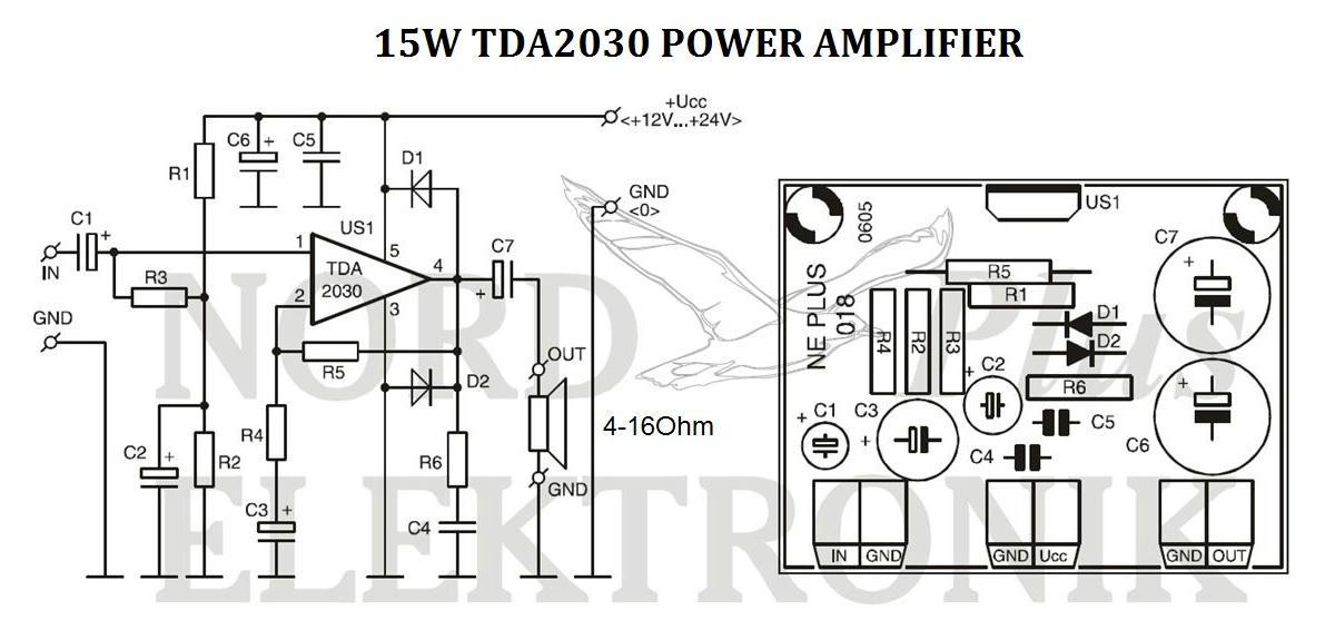 15w amplifier tda2030