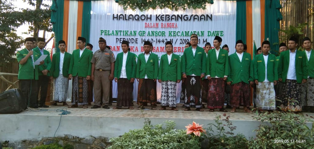 "Halaqah Kebangsaan GP Ansor Kudus, Ruchman Basori: ""Insya Alloh Indonesia Aman Damai Jika Ada Ansor-Banser"""